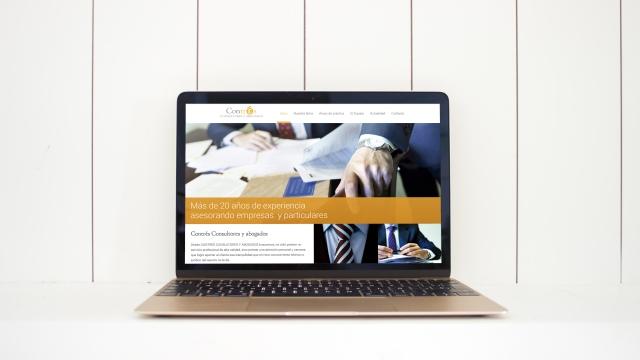 Mantenimiento de la web preexistente de Contrés Consultores y Abogados