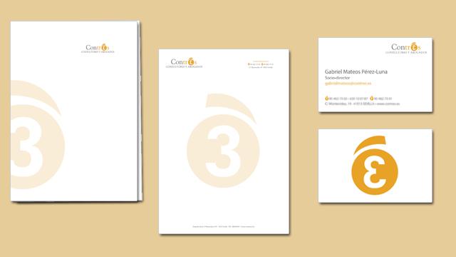 Diseño de papelería corporativa de Constrés Consultores y Abogados