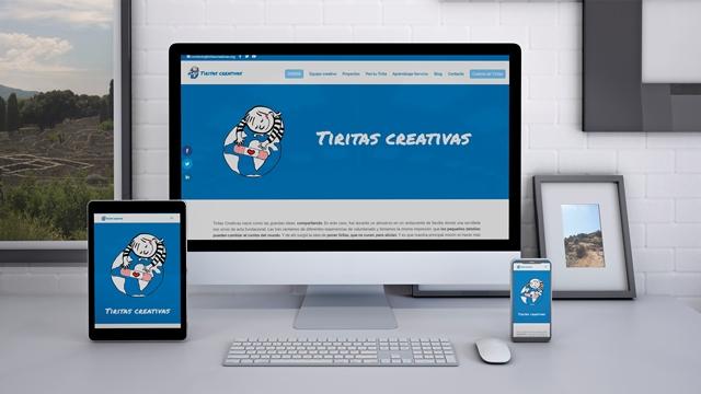Diseño, creación y mantenimiento de la web de Tiritas Creativas.