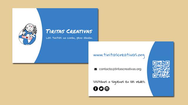 Diseño de tarjetas corporativas de Tiritas Creativas