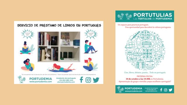 Diseño de cartelería de Academia Portudemia