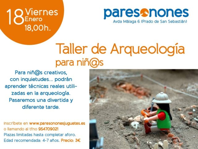 Taller de arqueología para niños