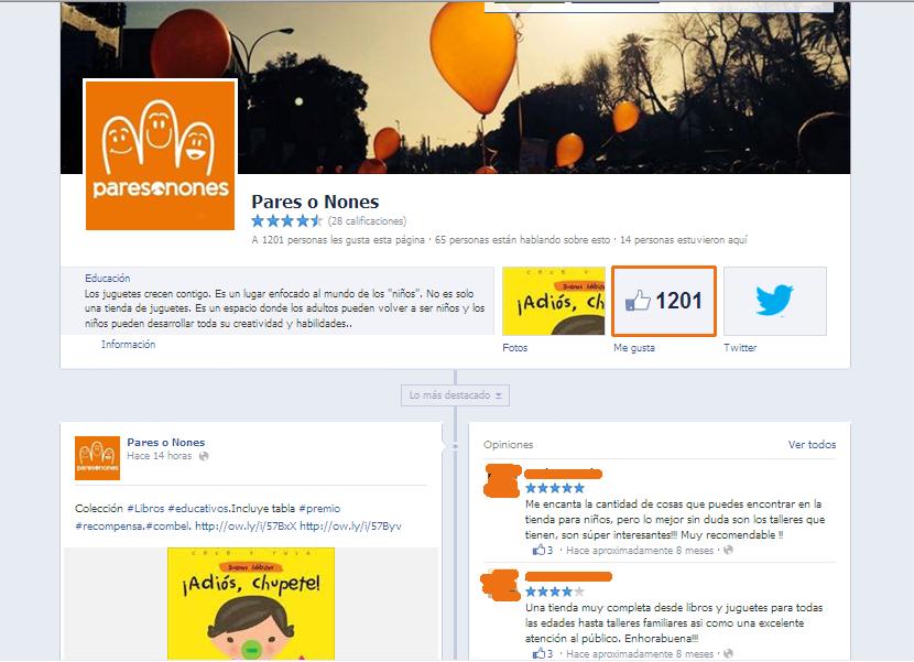Facebook Pares o Nones